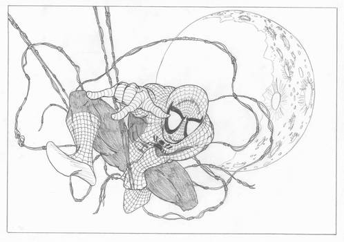 Spider-Man + The Moon
