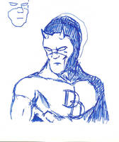 Daredevil head-shoulder sketch by davew