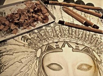 Geronimo - detail by alx-draws