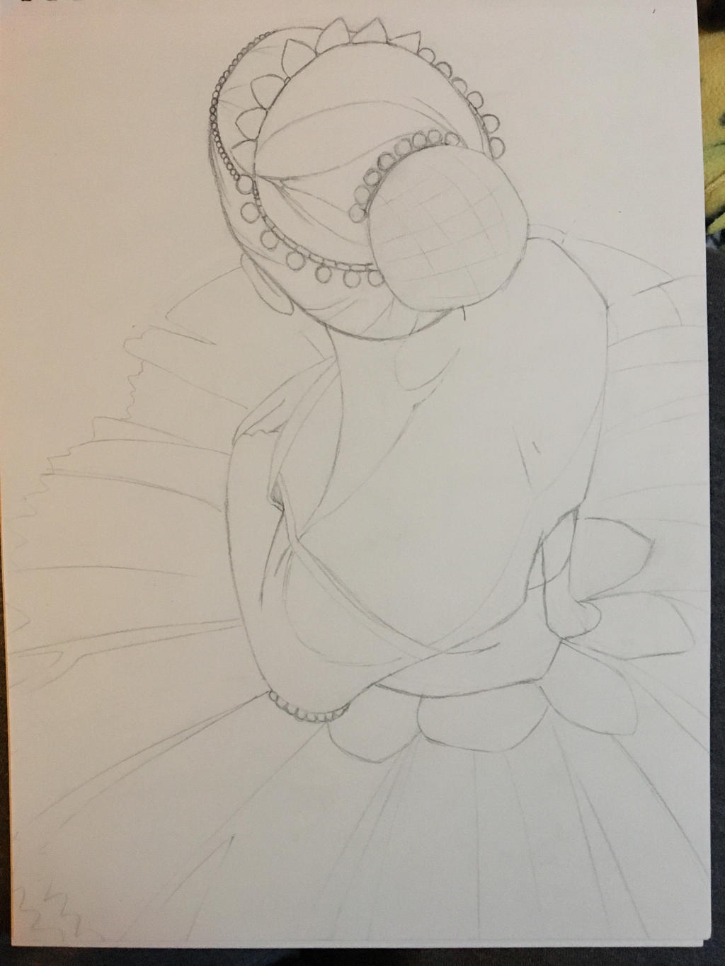 Ballerina from the Top (pencil) by vdysa