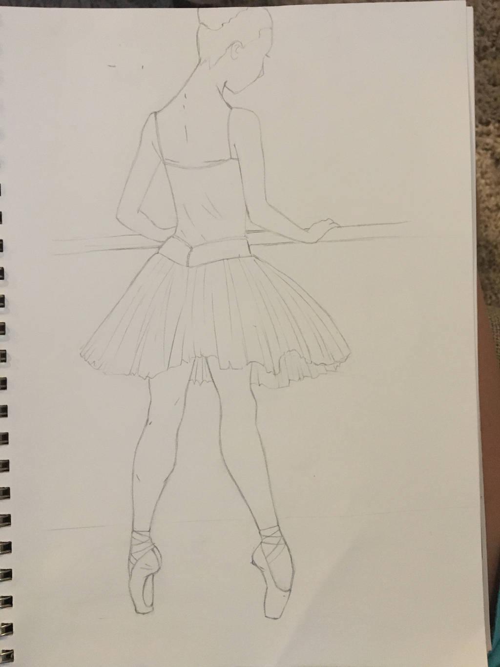 Ballerina Practicing by vdysa