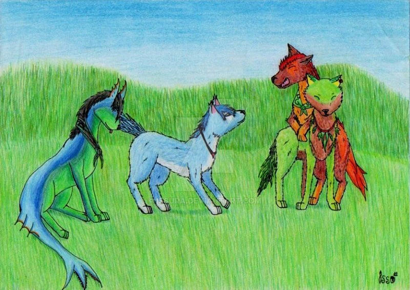 Four years, four wolves by Issura