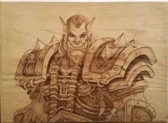 Warcraft Thrall Wood Burning