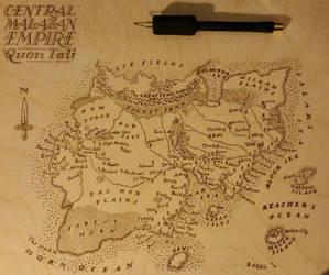 Pyrography Malazan Map