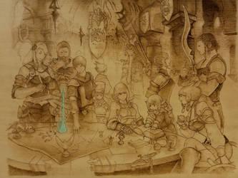 Final Fantasy XIV pyrography fan art