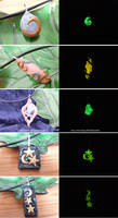 Glow in the Dark Pendants 2 by JSmallDragon
