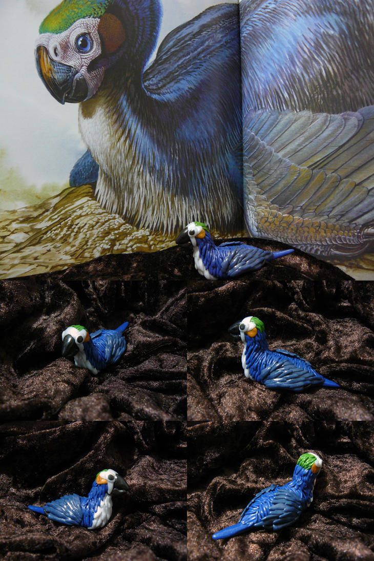 Polymer Clay Feathered Dinosaur by plasterfish