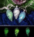 Glow in the Dark Drop Pendants