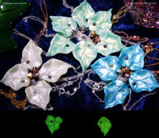 Glow in the Dark Leaf Pendants  - New Colours by JSmallDragon