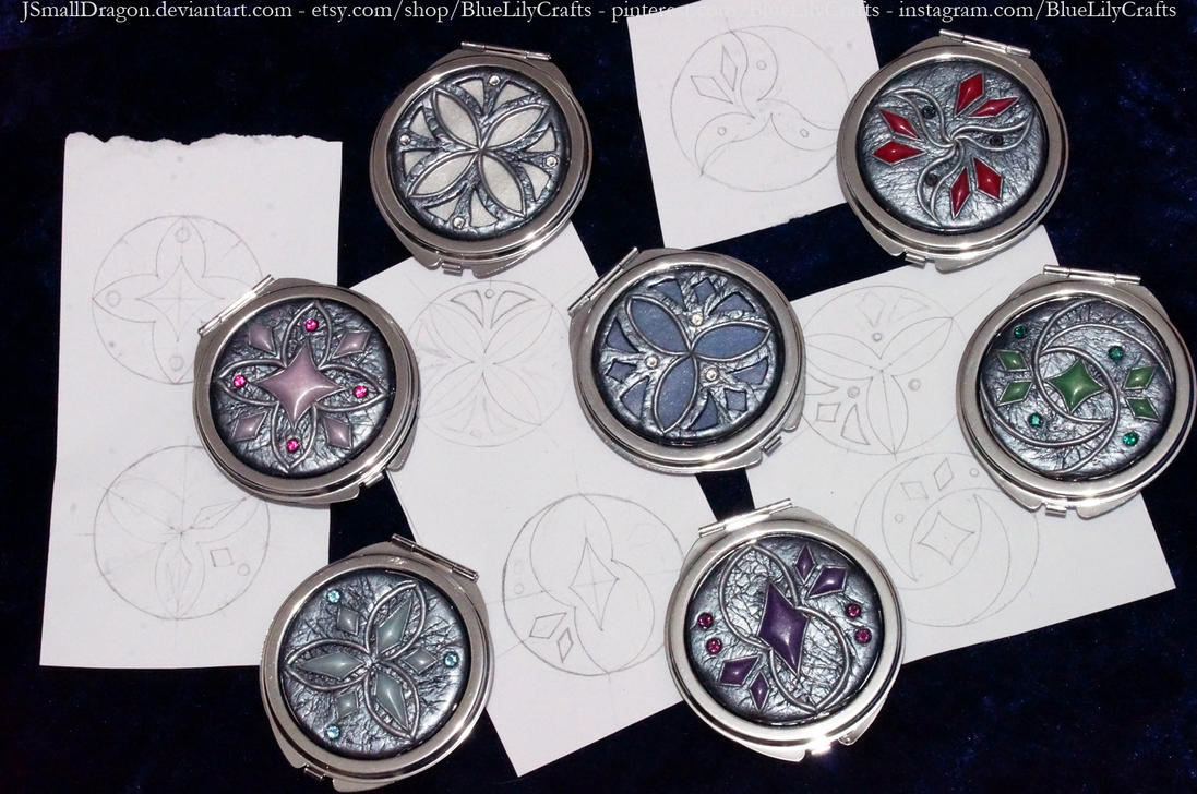 Making of: Compact Mirror Designs by JSmallDragon