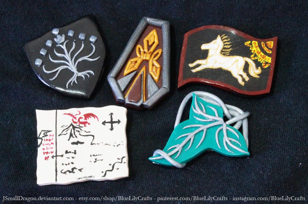 Middle Earth Magnets by JSmallDragon