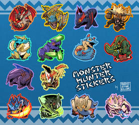 Monster Hunter Stickers