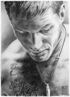 Tom Hardy portrait 2 by dmkozicka
