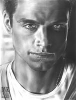 Sebastian Stan portrait by dmkozicka