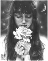white flower by dmkozicka