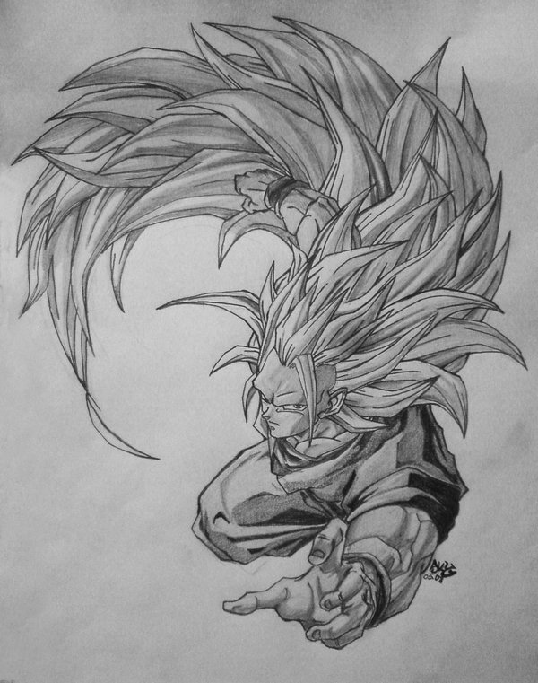 Goku Super Saiyan 3 By Skymarius On Deviantart