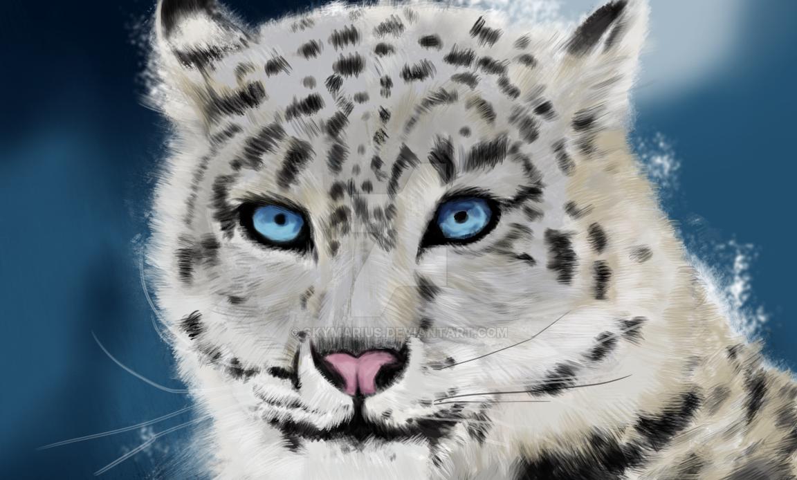 Baby snow leopard by SkyMarius