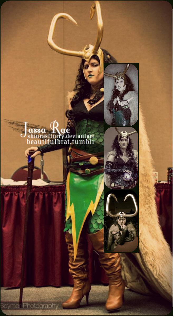 Jassa Rae - Lady Loki Collage of 2012 by ShinrasFlurry