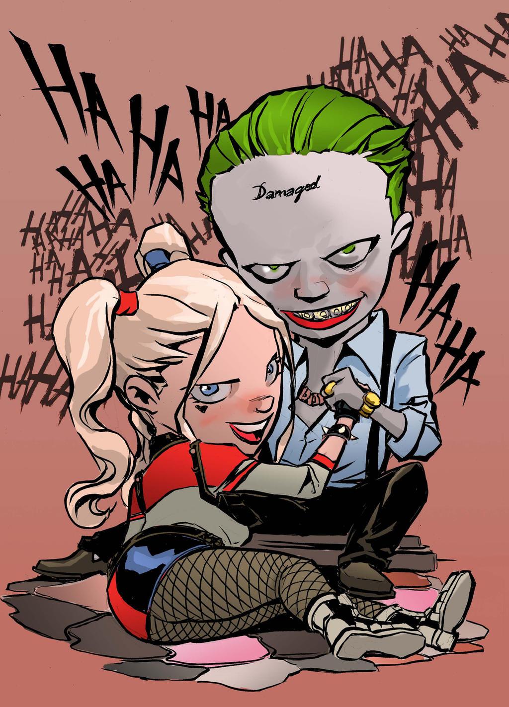 Joker-Harley Quinn chibi by emmanuelxerxjavier on DeviantArt