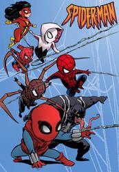 spiderman, spidergwen, spiderwoman, venom by emmanuelxerxjavier