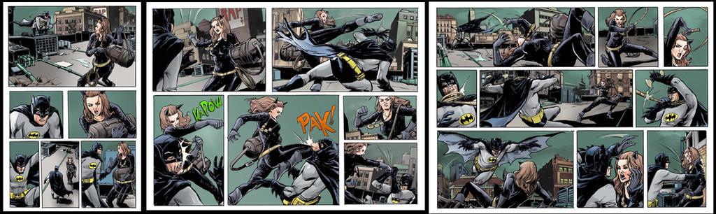 dc- batman vs catwoman page 1-5 sample by emmanuelxerxjavier