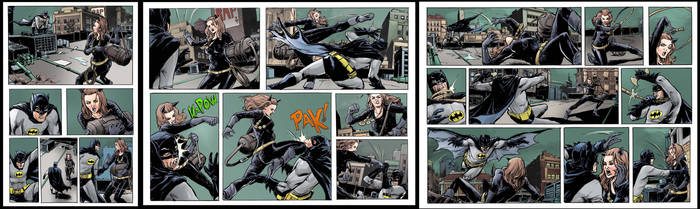 dc- batman vs catwoman page 1-5 sample by emmanuelxerxjavier