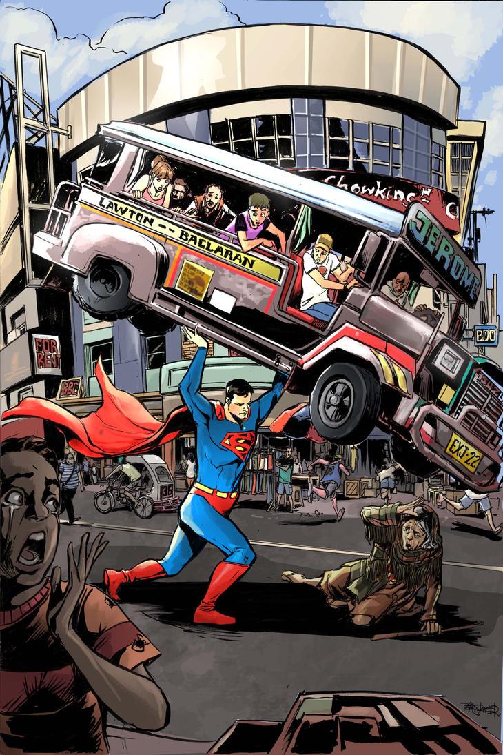 Superman in Baclaran by emmanuelxerxjavier
