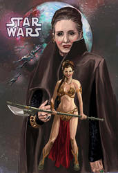 Princess Leia Starwars by emmanuelxerxjavier