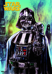 Darthvader in watercolor/acrylic by emmanuelxerxjavier