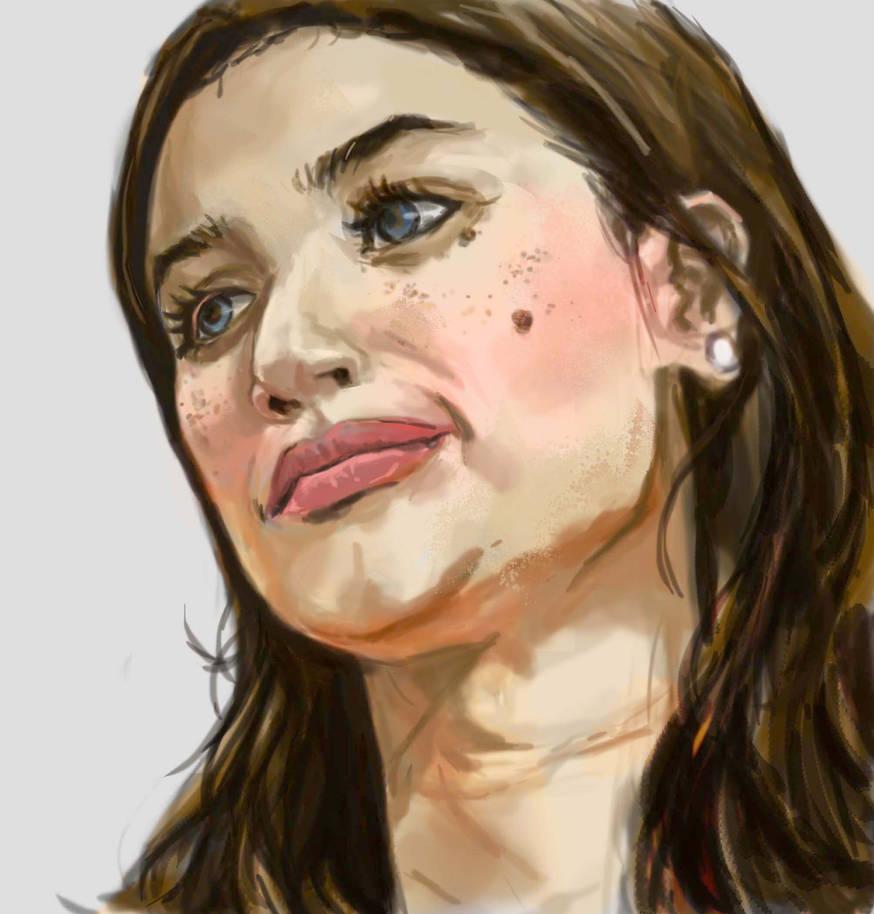 Anne-practice portrait by emmanuelxerxjavier