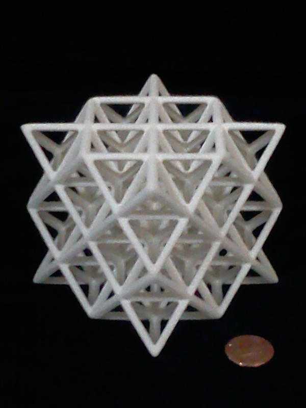 3d printed 64 tetrahedron grid by seied on deviantart for 3d star net