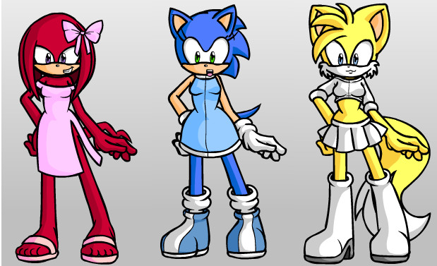 Team Sonic as... Girls by BunniePrower