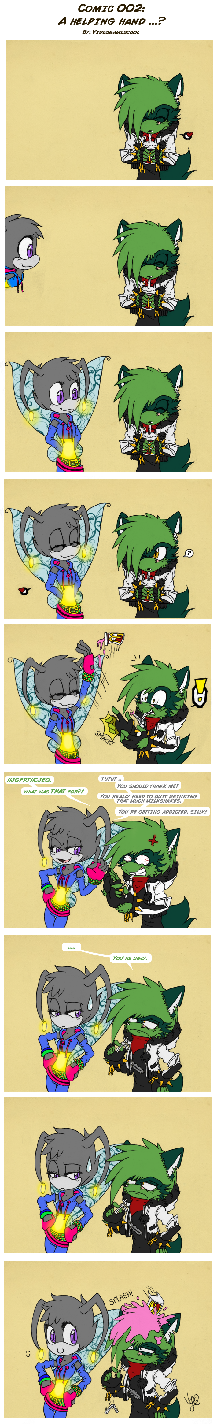 Comic 002 :: A helping hand ..? by Yommii