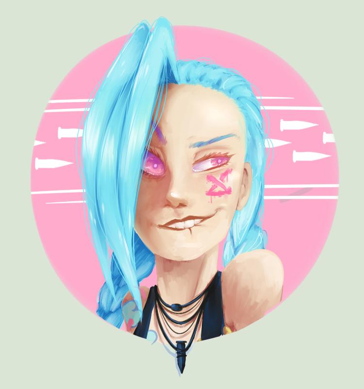 ::Jinx Portrait by Yommii