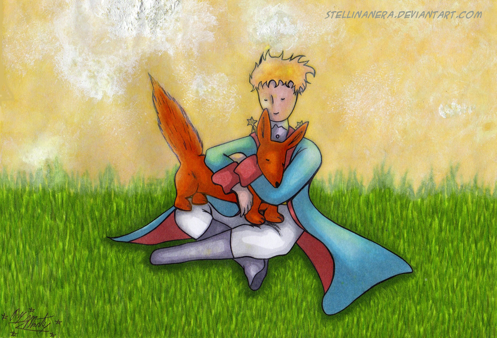 The little Prince and the fox by stellinanera