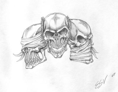 Collectionhdwn Hourglass Skulls Drawing