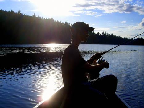 Todd Fishing Silhouette