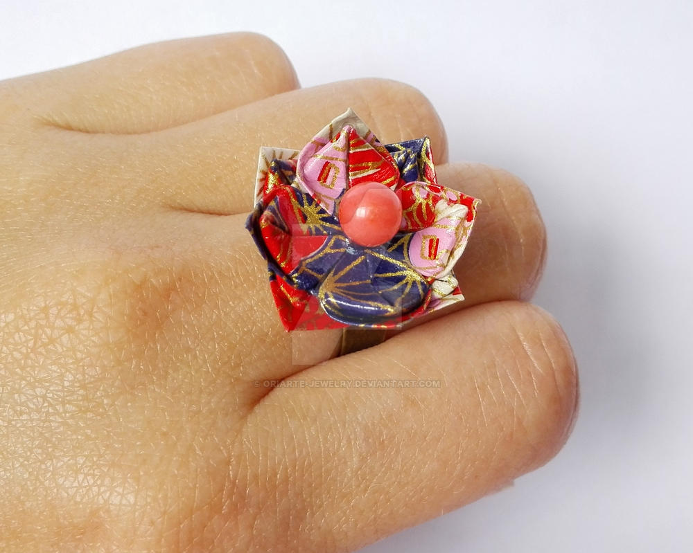 Origami lotus flower ring adjustable by oriarte jewelry on deviantart origami lotus flower ring adjustable by oriarte jewelry izmirmasajfo Images