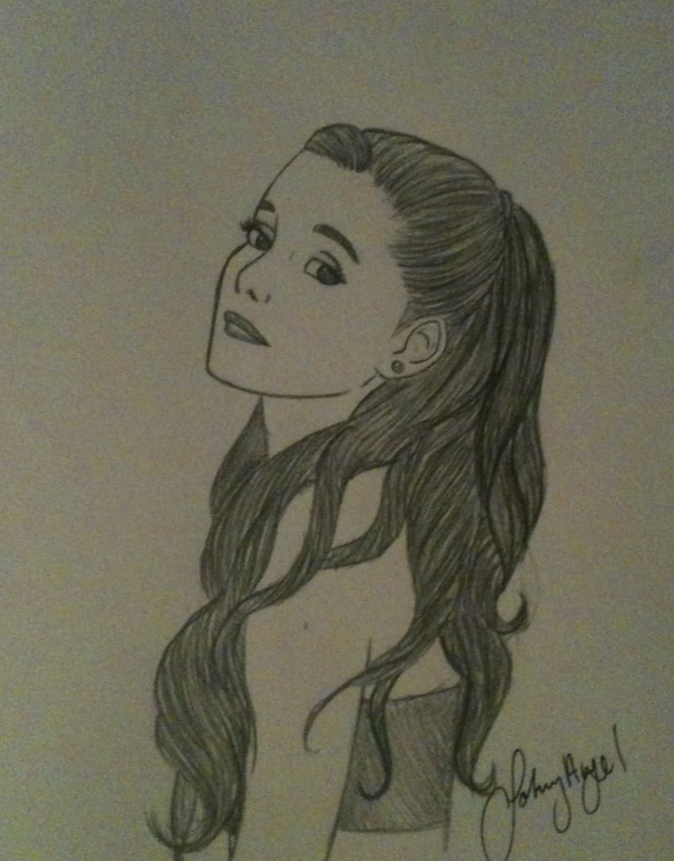 Ariana grande drawing by johnnyangelvillafan1