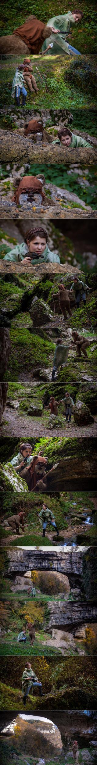 Leia meets Wicket by daguerreoty-pe