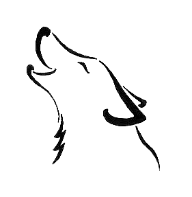 Simple wolf design - photo#13