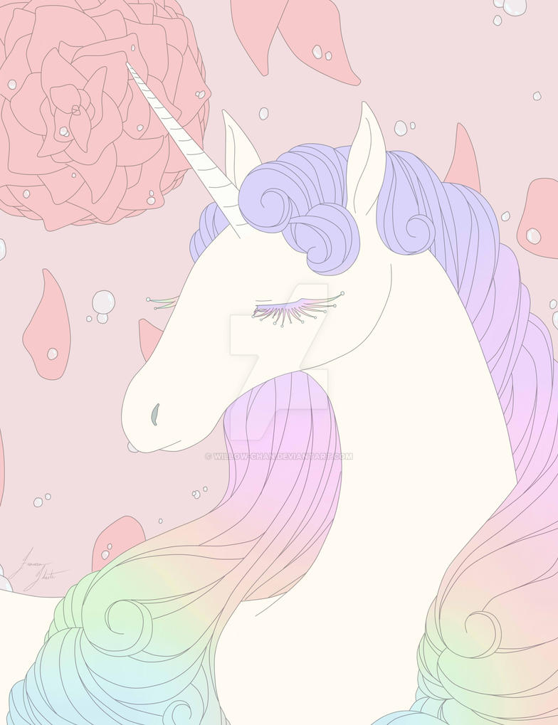Pastel Unicorn by Willow-Chan