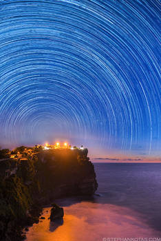 Uluwatu star trails