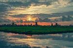 Stunning view in Zaanse Schans, Holland