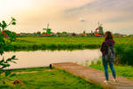 Contemplating beauty in the Dutch countryside