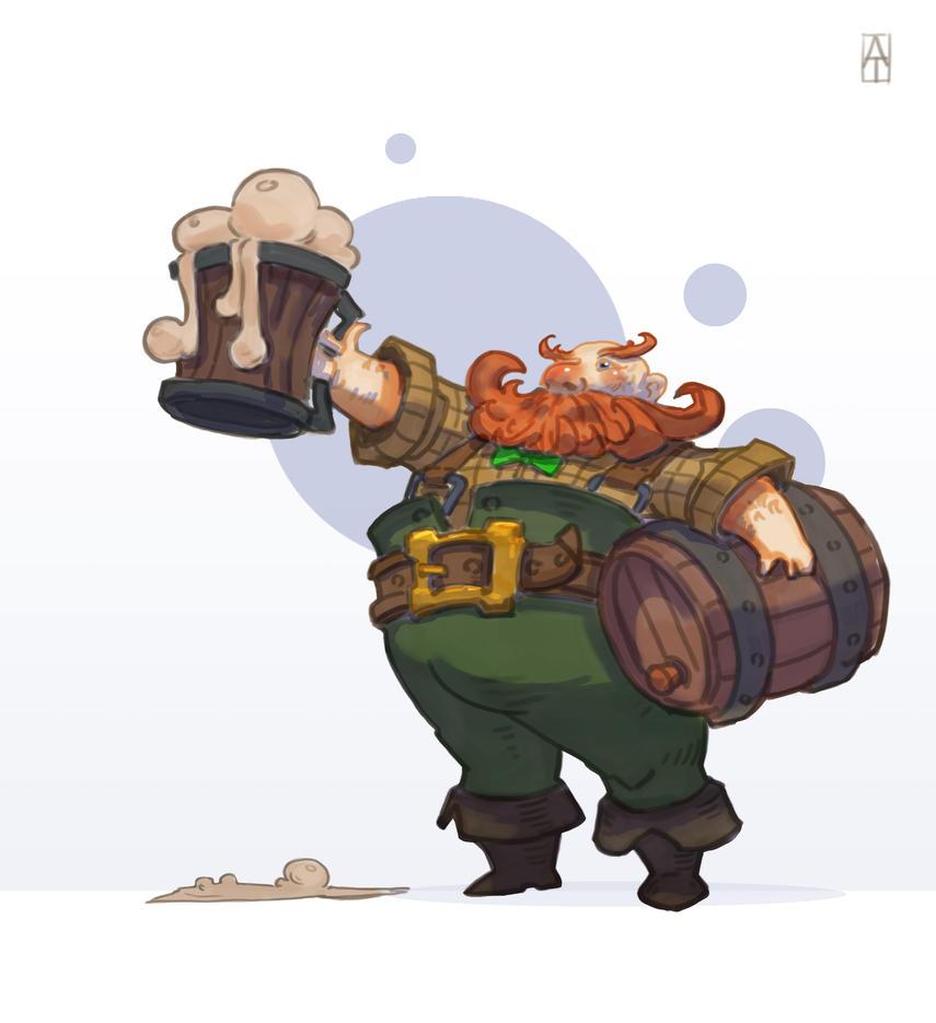 drunken dwarf by Trufanov
