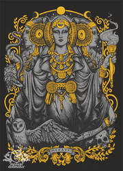 Iberian Hecate gray by Medusa-Dollmaker