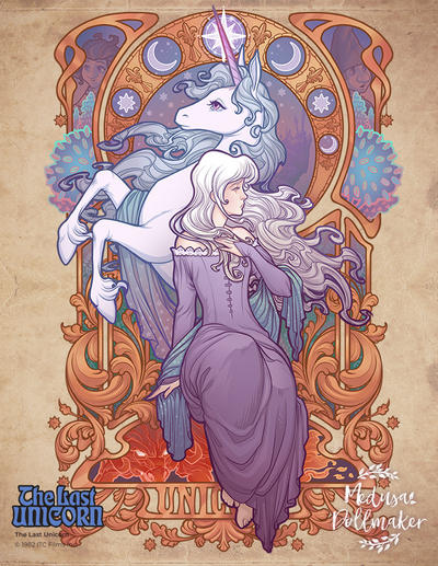 Lady Amalthea - The Last Unicorn by Medusa-Dollmaker