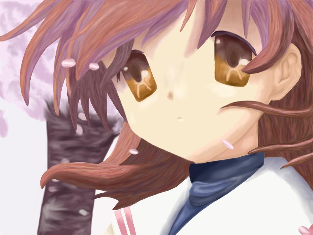 Paintover - Nagisa by Roseheart53