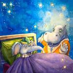 Hippo And Elephant